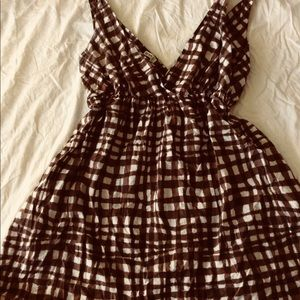 Old navy brown and white summer dress